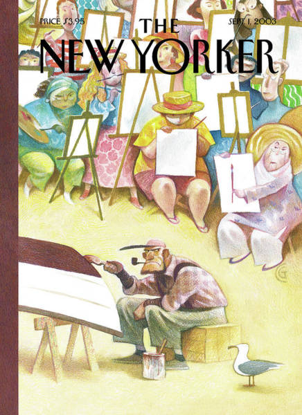 2003 Painting - New Yorker September 1st, 2003 by Carter Goodrich