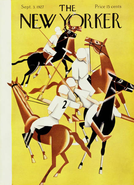 Polo Painting - New Yorker September 2 1927 by Theodore G. Haupt