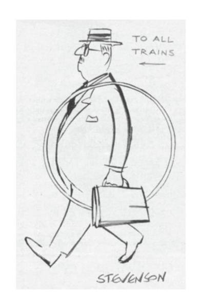 1958 Drawing - New Yorker September 20th, 1958 by James Stevenson