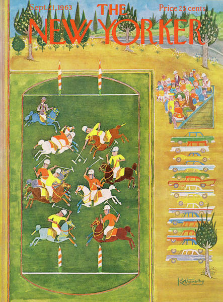 Polo Painting - New Yorker September 21st, 1963 by Anatol Kovarsky