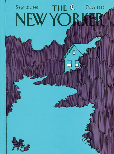Evening Painting - New Yorker September 21st, 1981 by Arthur Getz