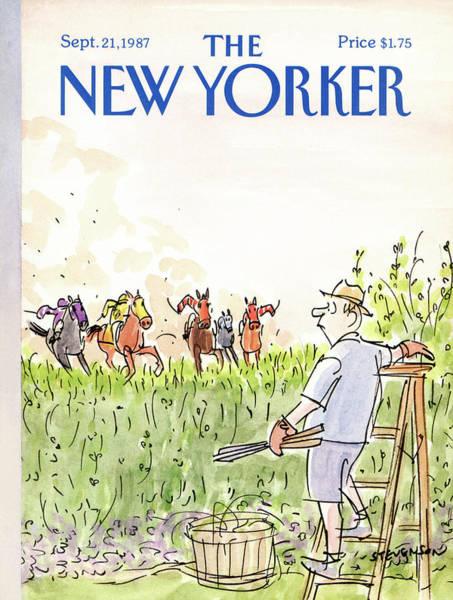 People Painting - New Yorker September 21st, 1987 by James Stevenson