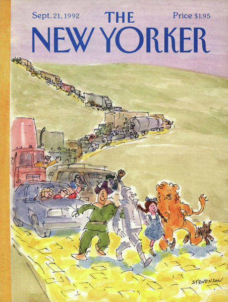 Obstacle Painting - New Yorker September 21st, 1992 by James Stevenson
