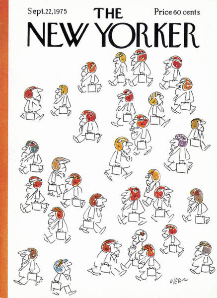 Fall Painting - New Yorker September 22nd, 1975 by Dean Vietor