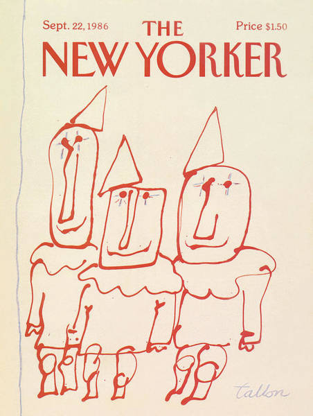 Entertainment Painting - New Yorker September 22nd, 1986 by Robert Tallon