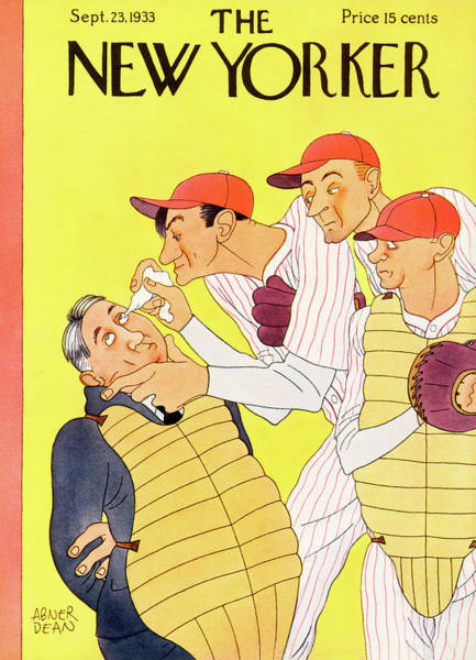 Humor Painting - New Yorker September 23rd, 1933 by Abner Dean