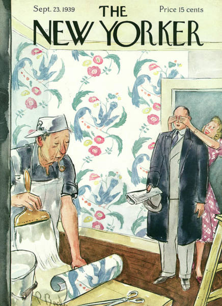 Decorating Painting - New Yorker September 23rd, 1939 by Perry Barlow