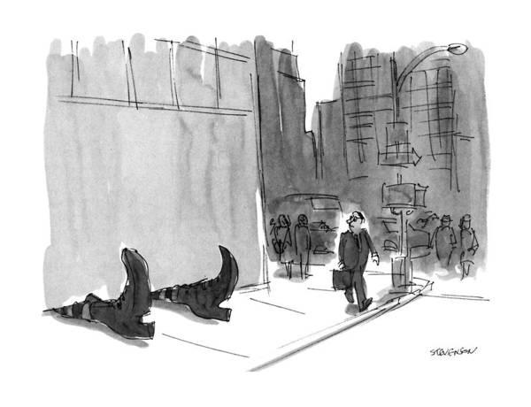 Pair Drawing - New Yorker September 23rd, 1991 by James Stevenson