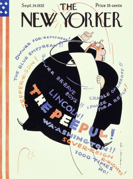 Humor Painting - New Yorker September 24 1932 by Rea Irvin
