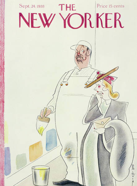 Magazine Cover Painting - New Yorker September 24 1938 by Rea Irvin