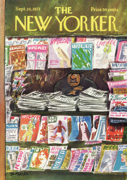 Newspaper Painting - New Yorker September 24th, 1973 by Charles Saxon