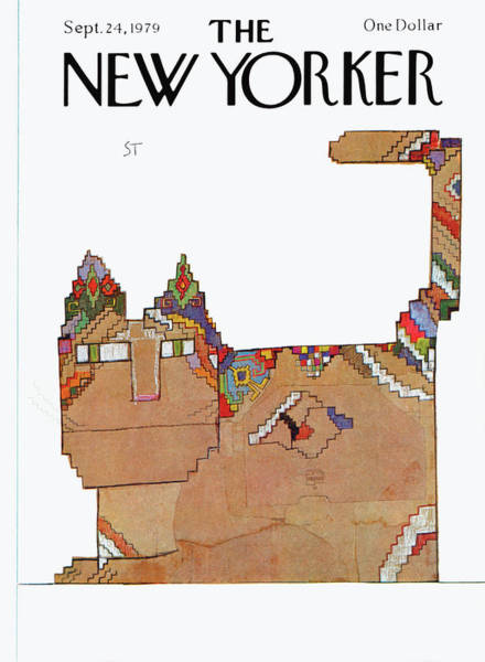 Pet Painting - New Yorker September 24th, 1979 by Saul Steinberg