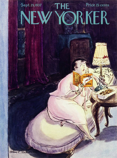 Book Painting - New Yorker September 25 1937 by Helene E. Hokinson