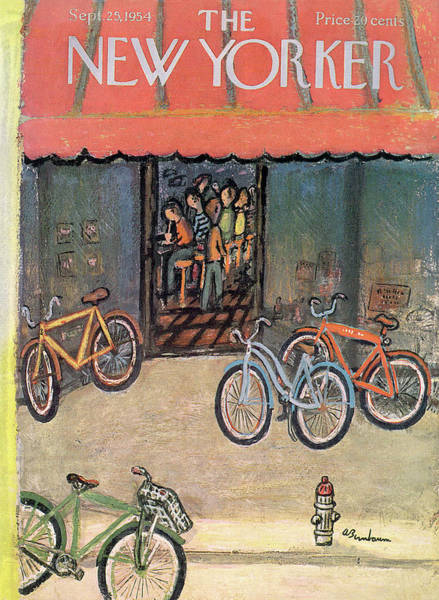 Bicycle Painting - New Yorker September 25th, 1954 by Abe Birnbaum