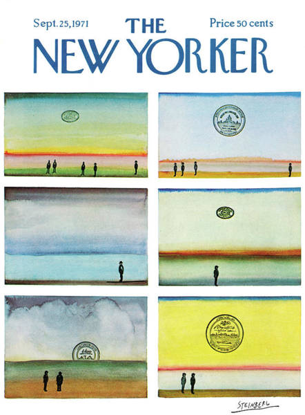 Nautical Painting - New Yorker September 25th, 1971 by Saul Steinberg