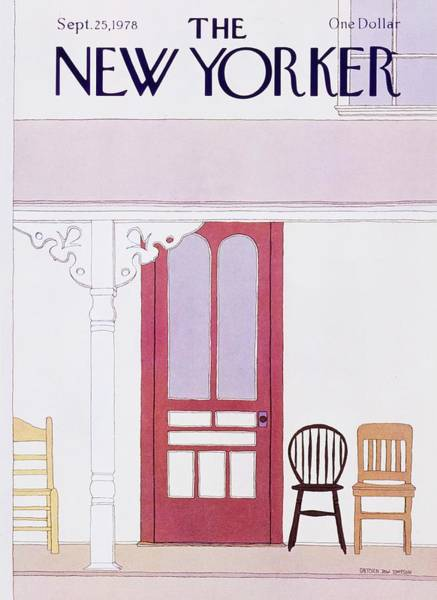 Porch Painting - New Yorker September 25th 1978 by Gretchen Dow Simpson