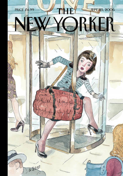 Shoe Painting - New Yorker September 25th, 2006 by Barry Blitt