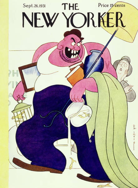 Humor Painting - New Yorker September 26 1931 by Rea Irvin