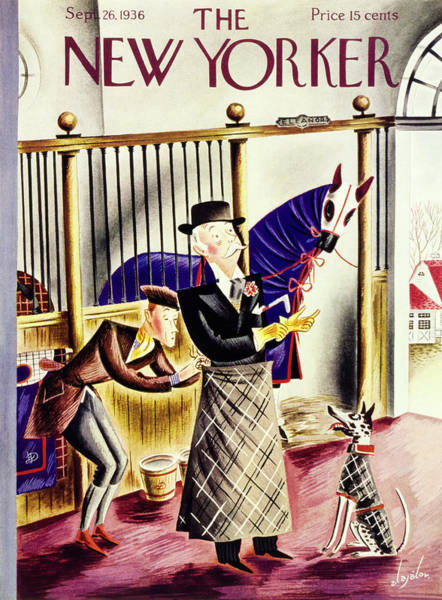Magazine Cover Painting - New Yorker September 26 1936 by Constantin Alajalov