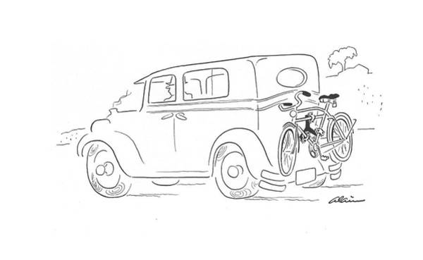 Bike Drawing - New Yorker September 26th, 1942 by  Alain