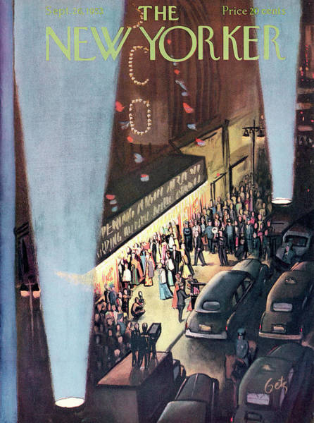 Celebration Painting - New Yorker September 26th, 1953 by Arthur Getz