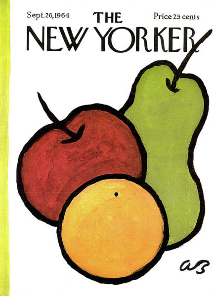 Apples Painting - New Yorker September 26th, 1964 by Abe Birnbaum