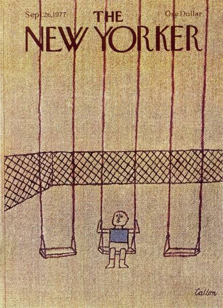 Swing Painting - New Yorker September 26th 1977 by Robert Tallon