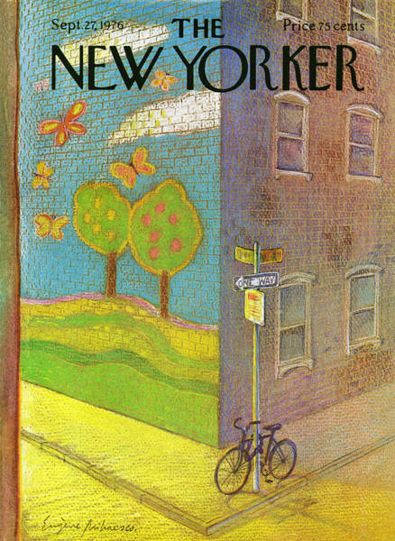 Bicycle Painting - New Yorker September 27th, 1976 by Eugene Mihaesco