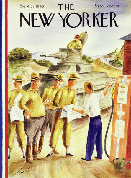 Gas Stations Painting - New Yorker September 28 1940 by Constantin Alajalov