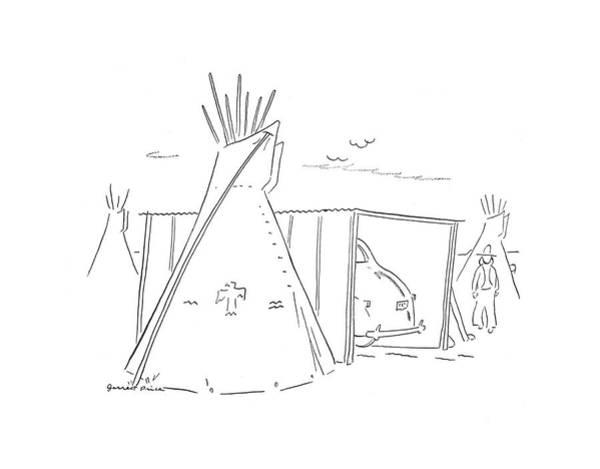 Tribe Drawing - New Yorker September 28th, 1940 by Garrett Price