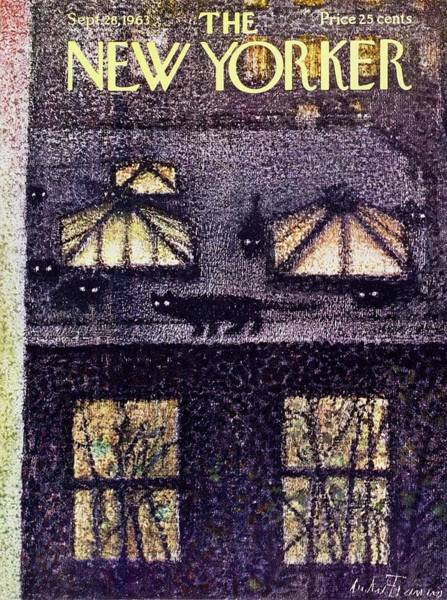 Night Sky Painting - New Yorker September 28th 1963 by Andre Francois