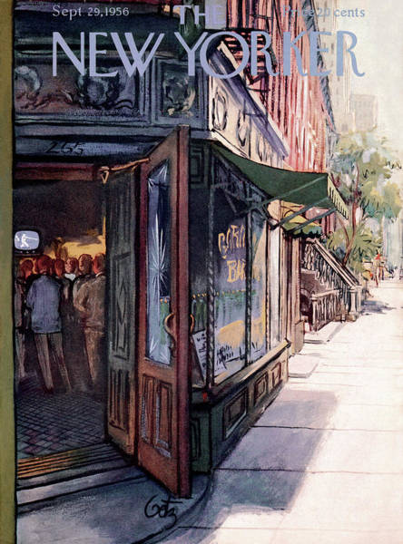Tavern Painting - New Yorker September 29th, 1956 by Arthur Getz