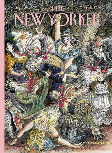 Singer Painting - New Yorker September 29th, 1997 by Edward Sorel