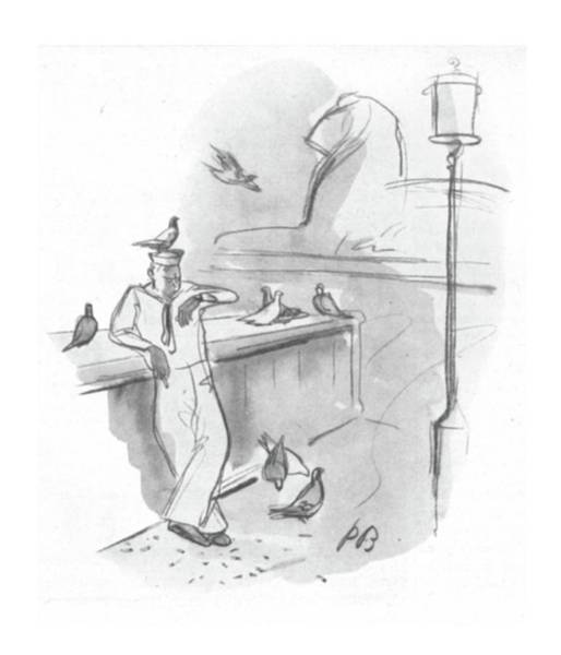 Shore Drawing - New Yorker September 2nd, 1944 by Perry Barlow