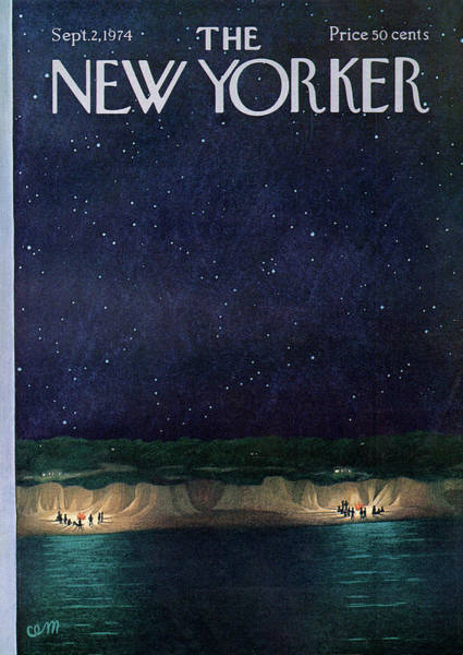 Night Painting - New Yorker September 2nd, 1974 by Charles E Martin