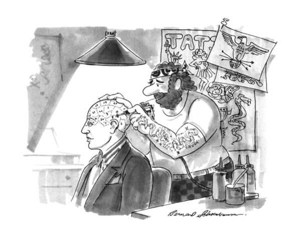 Tattoo Drawing - New Yorker September 2nd, 1991 by Bernard Schoenbaum