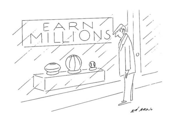 Storefront Drawing - New Yorker September 2nd, 1991 by Ed Arno