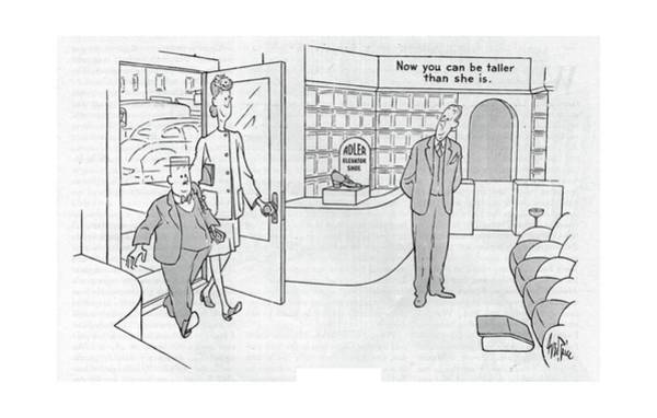 Retail Drawing - New Yorker September 30th, 1944 by George Price