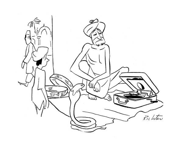 Hindu Drawing - New Yorker September 30th, 1944 by Mischa Richter