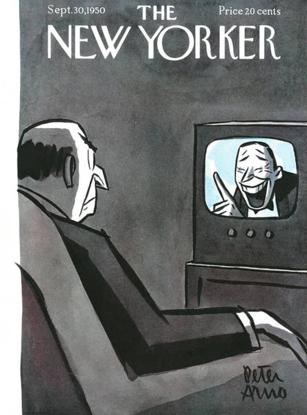 Television Painting - New Yorker September 30th, 1950 by Peter Arno