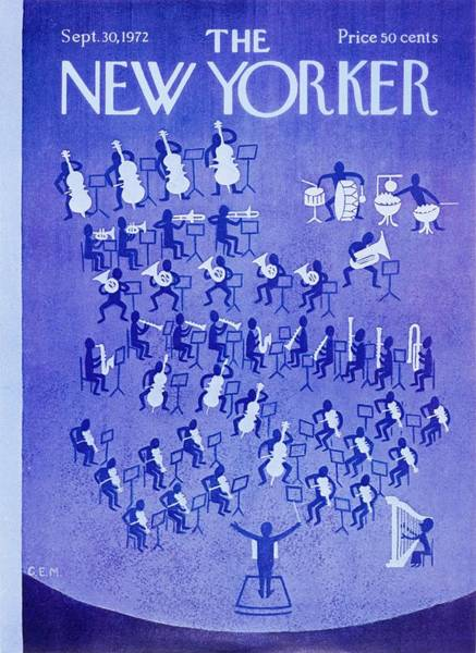 Performer Painting - New Yorker September 30th 1972 by Charles Martin