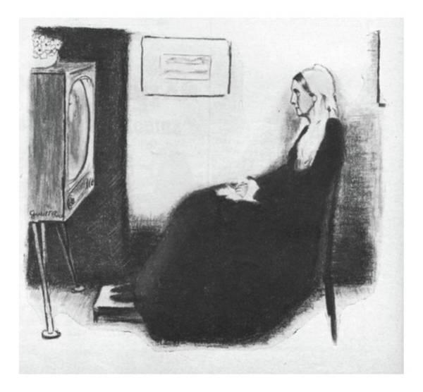 Interpretation Drawing - New Yorker September 3rd, 1955 by Garrett Price