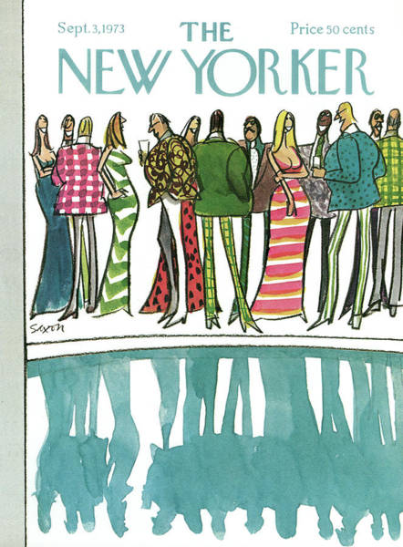 Dress Painting - New Yorker September 3rd, 1973 by Charles Saxon
