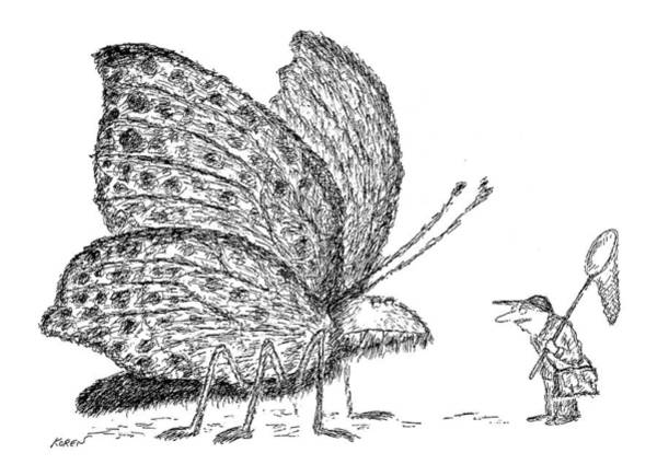 Dinosaurs Drawing - New Yorker September 3rd, 1979 by Edward Koren