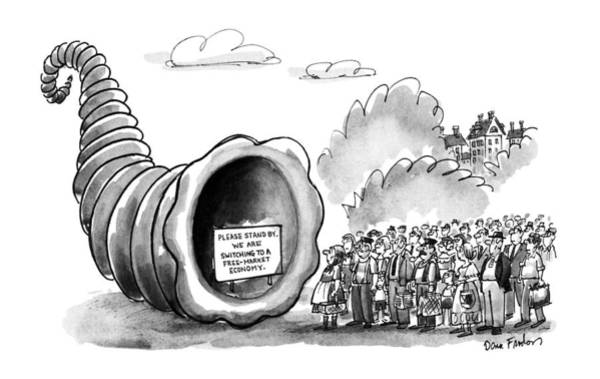 Eastern European Drawing - New Yorker September 3rd, 1990 by Dana Fradon