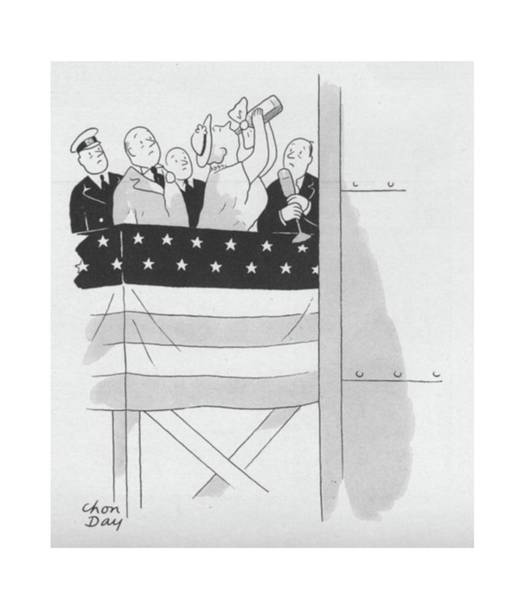 Champagne Drawing - New Yorker September 4th, 1943 by Chon Day