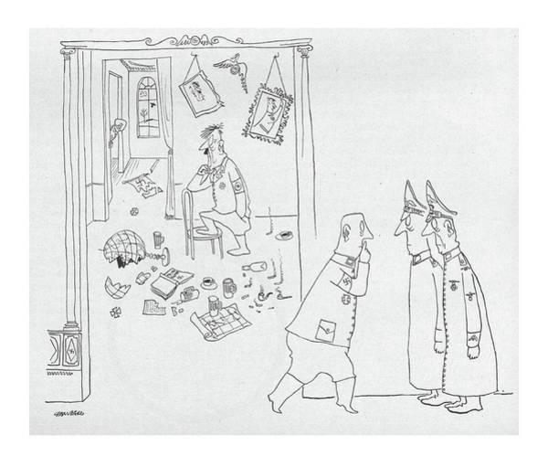 Hitler Drawing - New Yorker September 4th, 1943 by Saul Steinberg