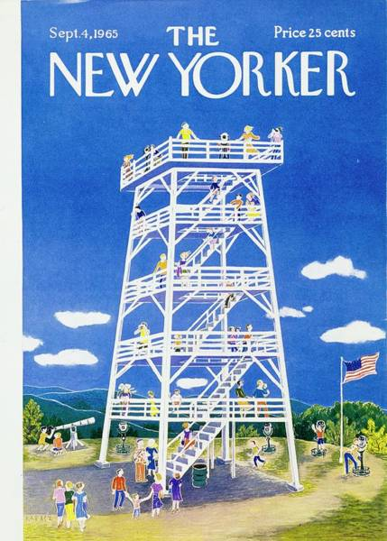 American Culture Painting - New Yorker September 4th 1965 by Ilonka Karasz