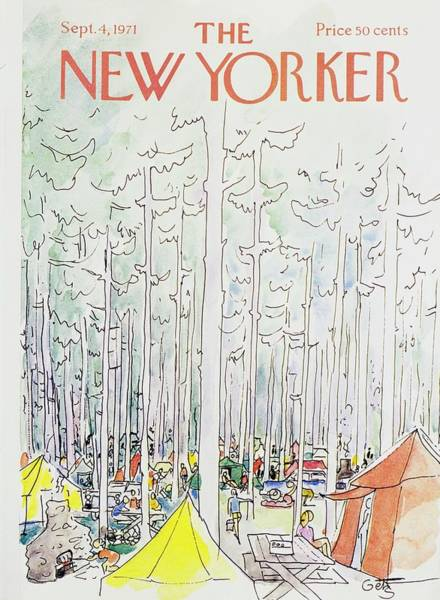 1971 Painting - New Yorker September 4th 1971 by Arthur Getz