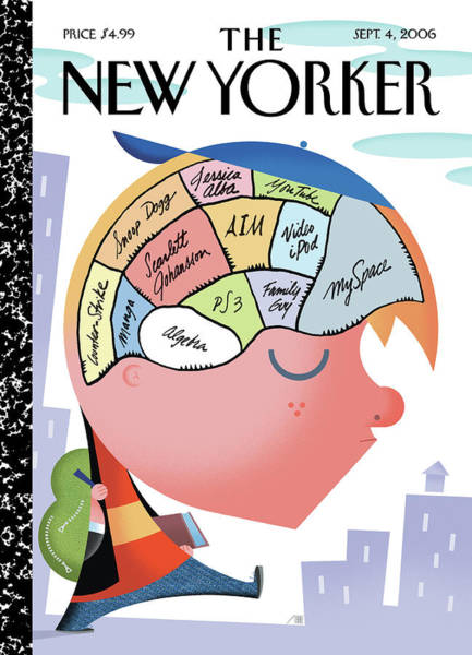 Brain Painting - New Yorker September 4th, 2006 by Bob Staake